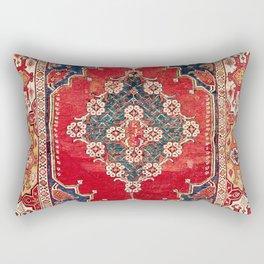 Transylvanian Manisa West Anatolian Niche Carpet Print Rectangular Pillow