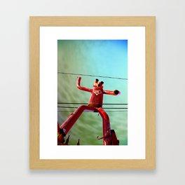 Attack of the 50ft Muffler Man Framed Art Print