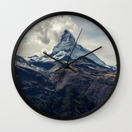 Crushing Clouds Wall Clock