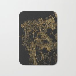 Beirut map, Lebanon Bath Mat