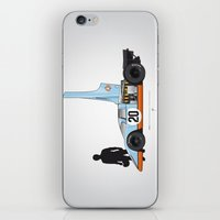 steve mcqueen iPhone & iPod Skins featuring Outline Series N.º4, Steve McQueen, Porsche 917, Le Mans movie 1971 by Ricardo Santos