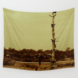 Lonely Crow Wall Tapestry
