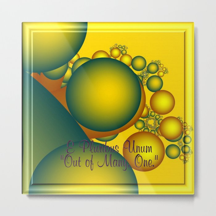 e pluribus unum   out of many - one Metal Print