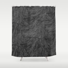 Circular lines pattern Shower Curtain