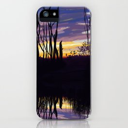 Fall Sunset in Northern Ontario iPhone Case