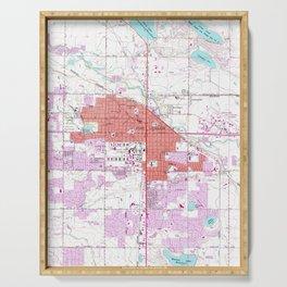 Vintage Map of Fort Collins Colorado (1960) Serving Tray