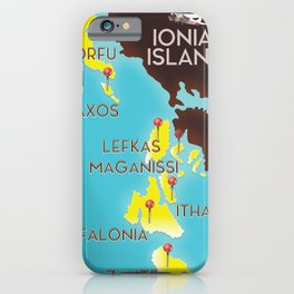 ionian Islands map iPhone Case
