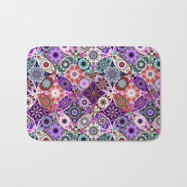 Moroccan bazaar | purple Bath Mat