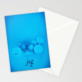 Jazz Blue Accent Stationery Cards