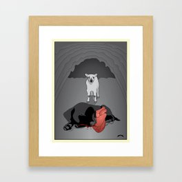 The Lamb and the Labrador Framed Art Print