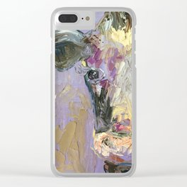 Colorful Cow Clear iPhone Case