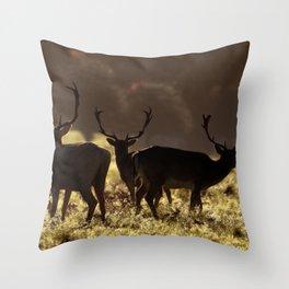 Deer silhoette Throw Pillow