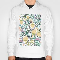 flower pattern Hoodies featuring Flower Pattern by Jo Cheung Illustration