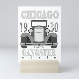 1930s Car Gangster Mob Chicago Mafia Gift Mini Art Print