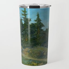 Repainted Thrift Store Painting with AK  Travel Mug