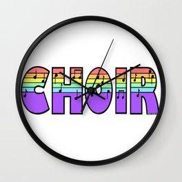 Pastel Choir Wall Clock