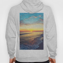 Summer Sunset Ocean Beach - Nature Photography Hoody