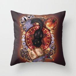 Black Cat Magic Throw Pillow