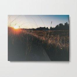 hipster sunset background Metal Print