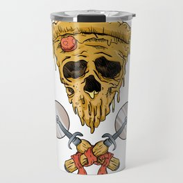 skull pizza slice Travel Mug