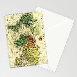 Vintage Map of The World (1823) - Stylized Stationery Cards