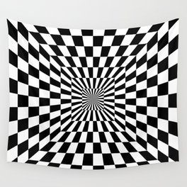 Optical Illusion Hallway Wall Tapestry