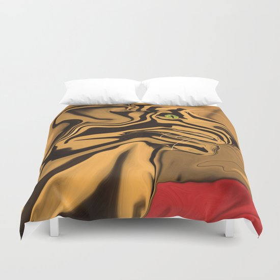 A Tiger for Tiago Duvet Cover