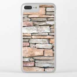 Stone Wall Clear iPhone Case