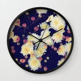 Mums in the Fall Wall Clock