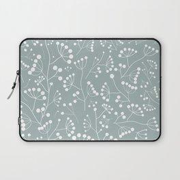 White Berry Twigs Laptop Sleeve
