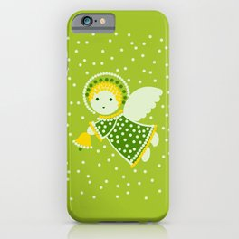 Angel on the green iPhone Case