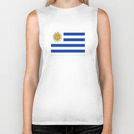 flag of Uruguay-Uruguyan,montevideo,spanish,america,latine,Salto,south america,paysandu,costa,sun,be Biker Tank