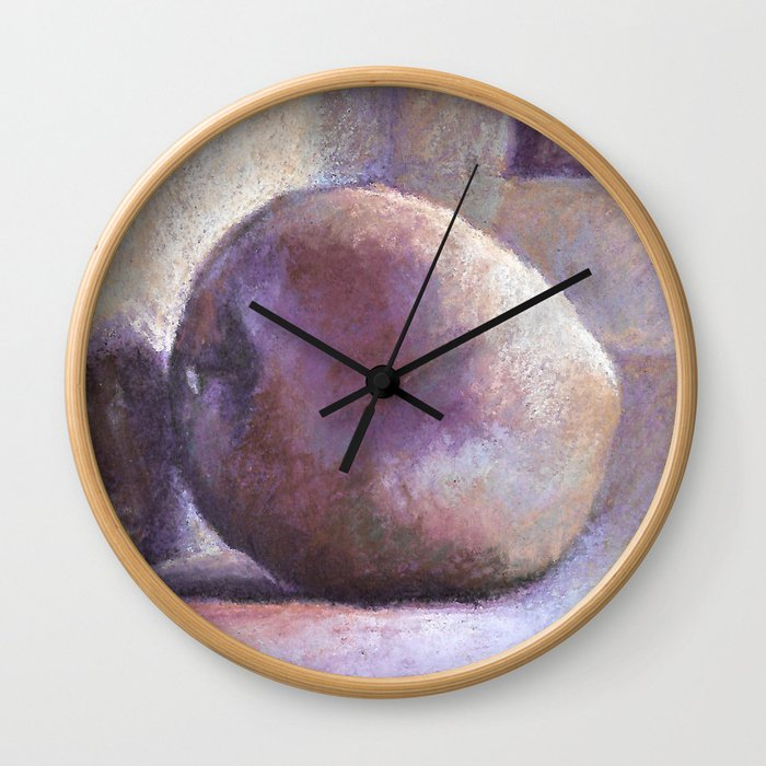 Lonely apple Wall Clock