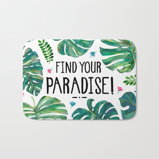 Tropical Paradise Bath Mat