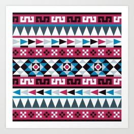 Aztec Geometric Pattern Art Print