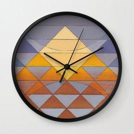 Pyramid Sun Mauve Purple Wall Clock