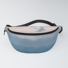 Watercolour 2 abstraction landscape sunrise flying cranes  Fanny Pack