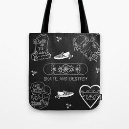 skate - destroy Tote Bag