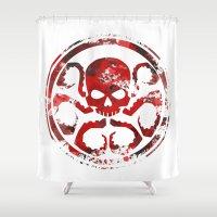 hydra Shower Curtains featuring HYDRA by Trey Crim