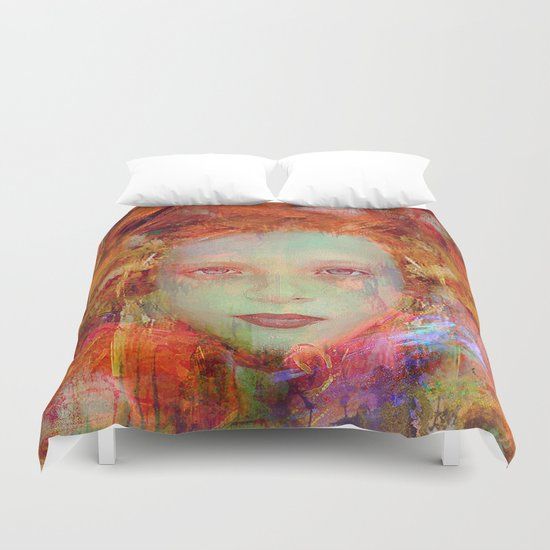 Autumnal girl Duvet Cover