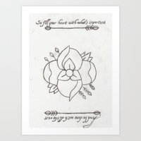 la dispute Art Prints featuring La Dispute Logo Tattoo by Sarah Hinds