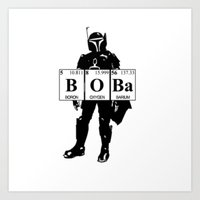 boba Art Prints featuring Boba by Pinguin Designs
