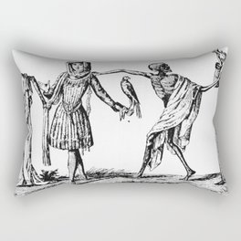 """""""We Dance With Death"""" Plague Art Rectangular Pillow"""