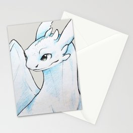 White Fury Stationery Cards