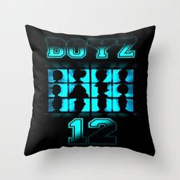 BOYZ 12 Throw Pillow