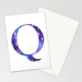 Letterforms Q : Quinn Stationery Cards