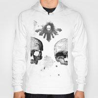 skulls Hoodies featuring Skulls by Lazyfish