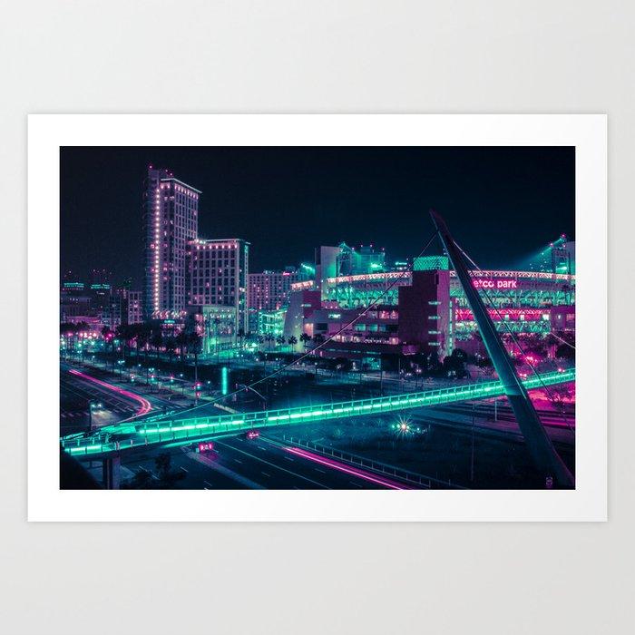 Neon San Diego Art Print