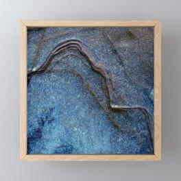 Blue Moonlight With Dark Ridges Framed Mini Art Print