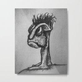 Strange Creature Character Drawing Metal Print